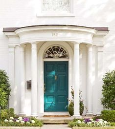 Front Door SW 0064 Blue Peacock | Maria Killam