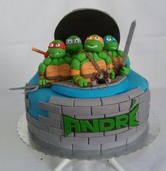 Bolo temático Tartarugas Ninjas #bolodecorado #tartaruganinja  Conheça nossa Fanpage