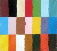 Rectángulos de color, acrylic on canvas. Pintura abstracta multicolor