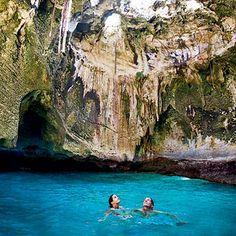 Thunderball Cave in the Bahamas