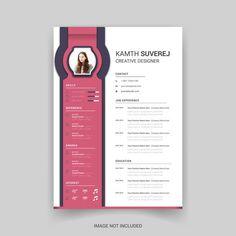 Resume Design Template, Cv Template, Resume Templates, Creative Resume, Creative Design, Designer Image, Resume Cv, Bts Wallpaper, Graphic Design