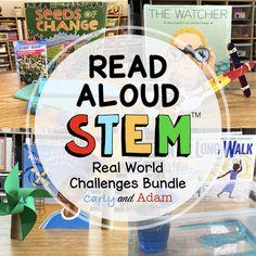 Real World READ ALOUD STEM™ Activities and Challenges BUNDLE Stem Teacher, Elementary Teacher, Stem Learning, Hands On Learning, Stem Activities, Writing Activities, Read Aloud Books, Coding For Kids, Stem Challenges