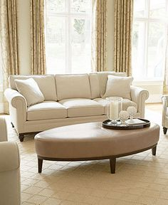 martha stewart leather living room furniture sets & pieces, bradyn