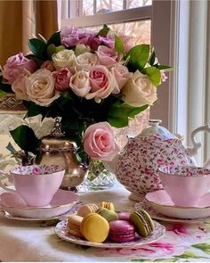 Coffee Time, Tea Time, Tea Party Theme, Tea And Books, Beautiful Flowers Garden, Beautiful Scenery, My Cup Of Tea, Blooming Flowers, Shabby Chic Decor