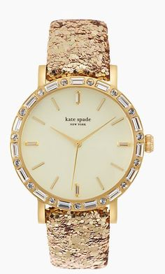 Glitter gold watch by @katespadeny - 20% off today - discount applied at checkout. Plus free 2-day shipping - click through for details. http://rstyle.me/n/s2hzxn2bn