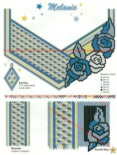 Scheme necklace with roses Peyote Stitch Patterns, Seed Bead Patterns, Beaded Bracelet Patterns, Beading Patterns, Beaded Banners, Peyote Beading, Beaded Bags, Beaded Flowers, Bead Art