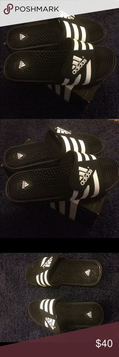 Adidas performance slides Adidas slides size 10! Practically brand new, Great condition adidas Shoes Sandals & Flip-Flops