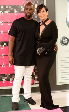 Corey Gamble & Kris Jenner from 2015 MTV Video Music Awards Red Carpet Arrivals  Looking good, Corey & Kris! The lovebirds style monochromatic styles for the evening.