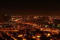 Facultad Tecnológica de la Universidad Distrital, Panorámica nocturna, Bogota.