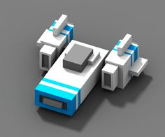 Voxel spaceship from the game Escape the sector