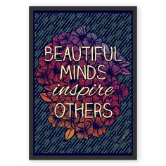 Poster Beautiful Minds de @jurumple | Colab55