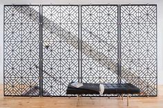 Design Detail - Patterned Metal Stair Guard