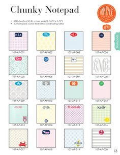monogrammed note pads - Google Search