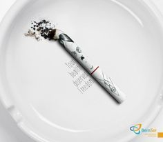 """Hitler Cigarette - """"your health deserves freedom"""" campaign by Dim and Canzian - Brazilian agency Satirical Illustrations, Satire, Ways To Lose Weight, Freedom, Health, Ads, Advertising, Granola, Rock"""