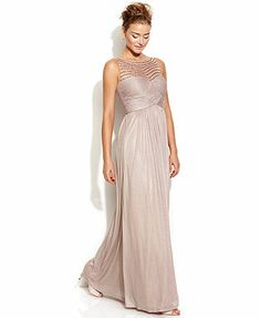 Ivanka Trump Sleeveless Metallic Illusion Gown @Emily Stinson @Misha Grubbs what do you think about this? found it on Macy's website and I love it. And of course Macy's is accessible to everyone (location-wise).