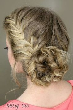 Fishtail braid bun by Missysueblog