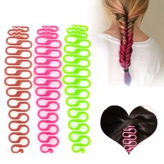 Hot Sale 3 pcs  shine-colored Fashion Magic Easy Braid Wave Hair Disk Device Tress Women Hair Braider tool Wholesale A2