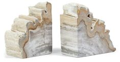S/2 Petrified-Wood Bookends, Light Wood - Decor Under $100 - Affordable Finds - Sale | One Kings Lane