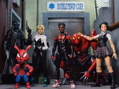 "To celebrate the awards ""Into the Spiderverse"" has been getting, I give you my custom Peni Parker! I'll be posting my other mods here soon! Marvel Heroes, Marvel Dc, Marvel Legends Figures, Batman Armor, Custom Action Figures, Toys Photography, Cool Toys, A Team, Spiderman"