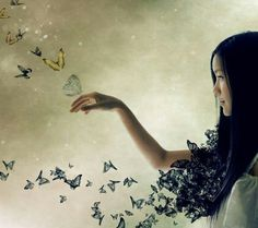 """""""..And just when the caterpillar thought the world was ending-- she became a butterfly"""" Thanks, mom. =]"""