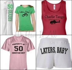 Fifty shades of grey clothes hahaha i love the charlie tango tank!
