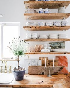 Nichol Naranjo on This rustic, little kitchen has held many people, seen many parties, not to mention a whole lot of food prep and takeout. I am thankful for Rustic Kitchen, Diy Kitchen, Kitchen Decor, Kitchen Paint, Kitchen Colors, Open Kitchen Shelving, Modern Kitchen Design, Interior Design Kitchen, Interior Modern