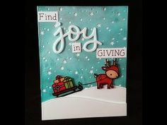 Find Joy in Giving to Order: www.mysweetpetunia.com Blue/silver paper is made https://www.youtube.com/watch?v=tk4_ROR8qqc http://www.lawnfawn.com/collections...