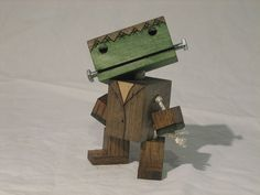Wooden Frankenstein robot by WoodPlaneAndSimple on Etsy, $25.00 - @Katherine Youngren