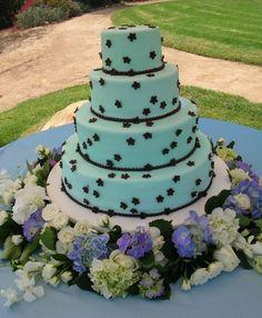 Wedding Cake Tiffany Blue and Stars Wedding Themes, Wedding Cakes, Wedding Ideas, Tiffany Blue Cakes, Dahl, Blue Wedding, Wedding Season, Weddings, Stars