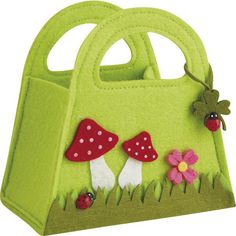 Mini sac en feutrine champignon - SCF1060 | Vannerie Pack