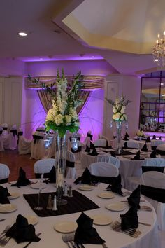 Wedding- pilsner glass centerpieces with hanging votive cups. Delaney House ballroomlighting by & Do you have your wedding venue yet? Come visit us at The Delaney ... azcodes.com