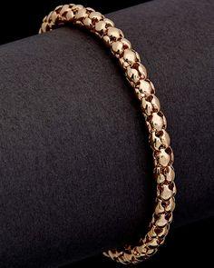 Meshmerise 14K Italian Gold Popcorn Bracelet