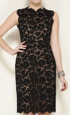 Valentino Black And Beige Dress