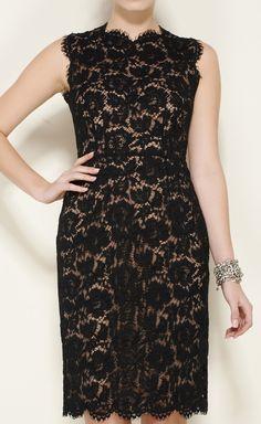 Valentino Black And Beige Dress