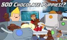"Where did these chocolate puppies come from? Find out in TODAY'S episode of Bravest Warriors, ""Emotion Lord"" ""Emotion Lord"" Emotions run high on the Bravest Warriors' ship when Danny contracts. Bravest Warriors, Watch Cartoons, Adventure Time Anime, Day Of My Life, Star Vs The Forces, Force Of Evil, Geek Out, Best Shows Ever, Nerdy"