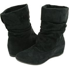 faux leather black boots