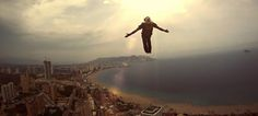 So maybe not a climbing film, but BASE jumping, slowmo and epic music is always a treat