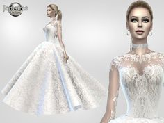 jomsims' Atanis wedding dress 2 Princess