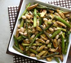 The Food Matters Project: Roasted Asparagus, Baby Potato   White Bean Salad via @EverydayMaven