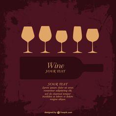 Vecteur de collecte de verre à vin Vecteur gratuit