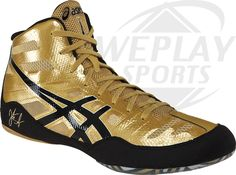 ASICS® JB Elite Wrestling Shoes gold shoes that will also be an option apart from the black ones