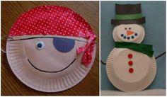 Un montón de manualidades hechas a base de platos, muchas de ellas geniales para hacer con niños.