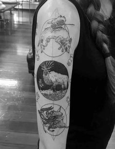Stunning Princess Mononoke tattoos done by some of the best tattoo artists from around the world.