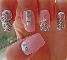 """Studs Nails - Tutorial on : http://claudiacernean.blogspot.ro/2013/05/unghii-cu-tinte-studs-nails.html .   Furthermore, using the code """"Claudia"""" you will get 10% discount for all the products from www.kkcenterhk.com"""
