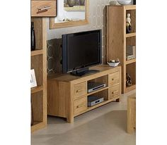Laguna Oak 4 Drawer TV Unit
