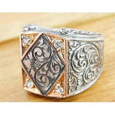 Sterling Silver 925 men ring ,ethnic design with.