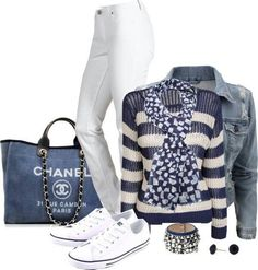 Chanel casual chic- that jean Chanel bag