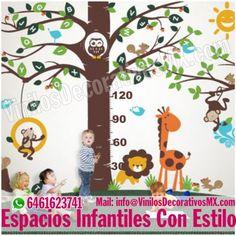 Vinilos Infantiles Arbol con Medidor y Animales