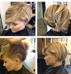 - Peinados y pelo 2017 para hombre y mujeres Love Hair, Great Hair, Color Del Pelo, Haircut And Color, Trending Haircuts, Short Hair Cuts For Women, Short Cuts, Short Layers, Bob Hairstyles