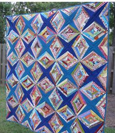 String Quilt - visit original page for some construction tips. Star Quilts, Quilt Blocks, Quilting Projects, Quilting Designs, Embroidery Designs, Quilting Templates, Quilting Ideas, Crumb Quilt, Scrap Quilt Patterns